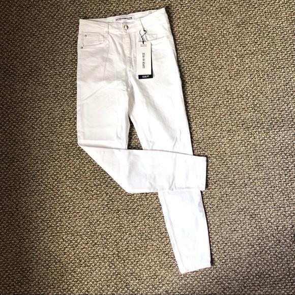 4a0aa0b2 NWT Zara White Sculpt Super High Rise Jeans NWT